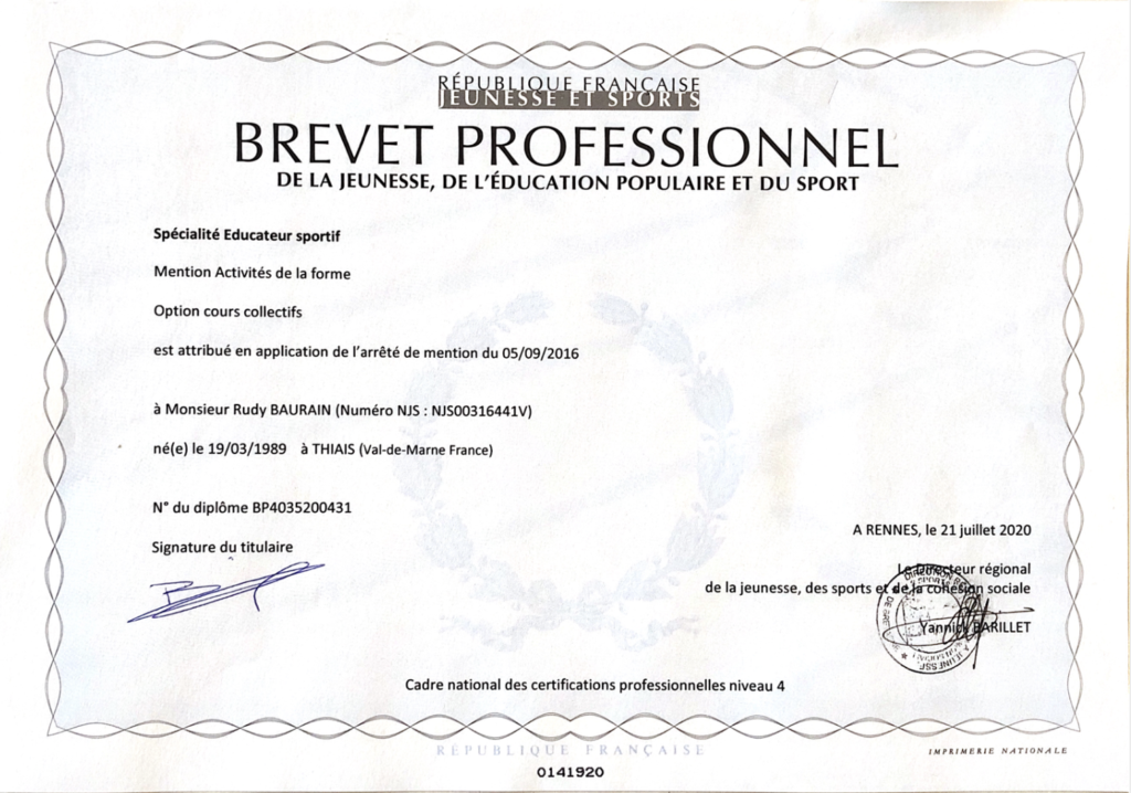 Brevet Professionnel Cours Collectifs